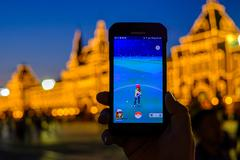 Pokemon Go application on the smartphone - stock photo