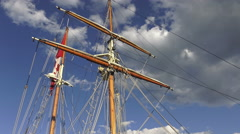 Tall ship at the Redpath Waterfront Festival at Harbourfront in Toronto, Canada  Stock Footage