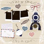 Scrapbook elements set. Stock Illustration