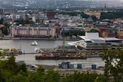 OSLO, NORWAY-JULY 5: Top view of Oslo city July 5, 2016 in Oslo, Norway. Oslo Stock Photos