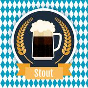 Oktoberfest beer festival logo design. Flat Illustration - stock illustration