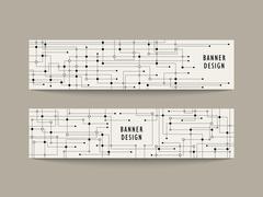 Technology feeling banner design Stock Illustration