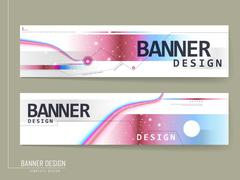 Fashionable banner design Stock Illustration