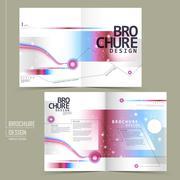 Fashionable half-fold brochure design Stock Illustration