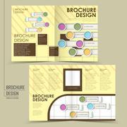 Trendy half-fold brochure design Stock Illustration