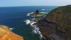 Cape Schanck aerial view, Australia Stock Footage