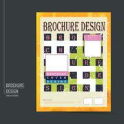 Retro brochure template design Stock Illustration