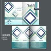 Trendy half-fold brochure template design Stock Illustration