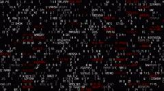 8 bit style code Stock Footage