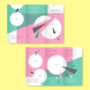 trendy tri-fold template design - stock illustration