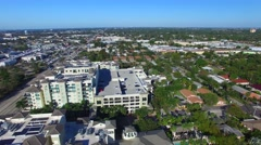 Panoramic aerial view of Fort Lauderdale Stock Footage
