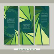 Charming banner template design Stock Illustration