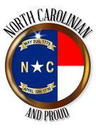 North Carolina Proud Flag Button Piirros