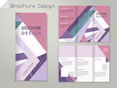 Trendy tri-fold brochure template design Stock Illustration