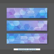 high-tech style banner template design - stock illustration