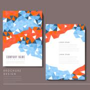 attractive brochure template design - stock illustration