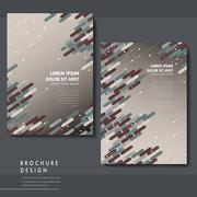trendy brochure template design - stock illustration