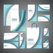 elegant corporate identity design - stock illustration