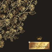 Luxurious floral background template design Stock Illustration