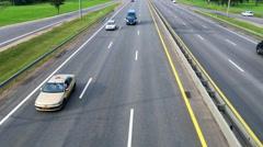Highway, road, overpass Stock Footage