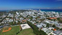Miami Beach aerial view, Florida Stock Footage
