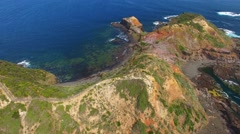 Cape Schanck from the air Stock Footage