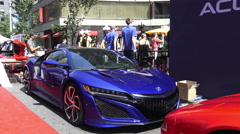 The Exotic Car Show at Bloor-Yorkville, Toronto June 2016 Stock Footage