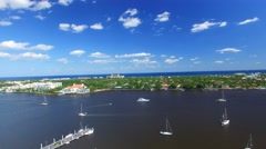 Aerial view of West Palm Beach Stock Footage
