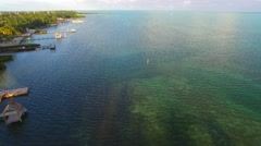 Islamorada aerial view, Florida Stock Footage
