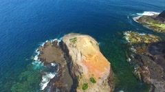 Aerial view of Cape Schanck, Mornington Peninsula, Australia Stock Footage