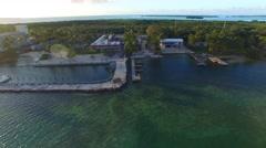 Aerial view of Islamorada at sunset, Florida Stock Footage