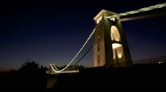 Clifton Suspension Bridge In Bristol UK Timelapse Stock Footage