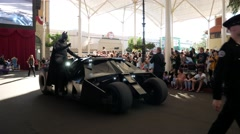 Batman show in Movie World Gold Coast Queensland Australia Stock Footage