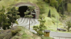 Road tunnel in the city Stock Footage
