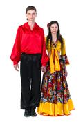 Gypsy flamenco dancer couple - stock photo