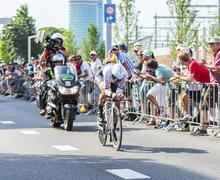 Utrecht,Netherlands - 04 July 2015: The Cyclist Fabian Cancellara Stock Photos
