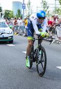 Utrecht,Netherlands - 04 July 2015: The Cyclist Pieter Weening Stock Photos