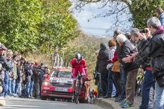 Conflans-Sainte-Honorine,France-March 6,2016: The Cyclist Julien Simon Stock Photos