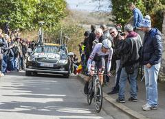 Conflans-Sainte-Honorine,France-March 6,2016:  The Cyclist Frank Schleck Stock Photos