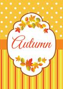 Autumn colorful leaves Stock Illustration