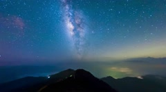 A section from the Milky Way and the Andromeda Galaxy - stock footage