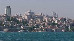 Floating ship. Bosphorus Stock Footage