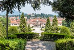 Estense Palace (Palazzo Estense) of Varese, Lombardy, Italy. Stock Photos