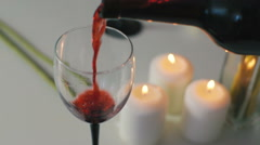 Red wine pouring Stock Footage