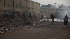 Smoke in the Garbage Stock Footage
