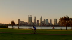 Exercising On The South Perth Foreshore - stock footage