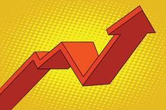 Up arrow chart sales Stock Illustration