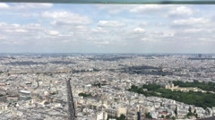 City of Paris From Top Of Montparnasse Tower, Pan 4k Stock Footage