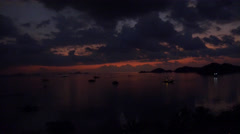 4k After sunset time-lapse at Labuan Bajo - Flores - Indonesia Stock Footage