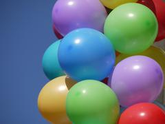 Lot of multi-colored balloons Stock Photos